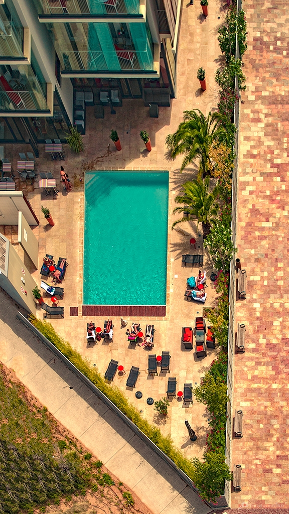 Swimming pool from above