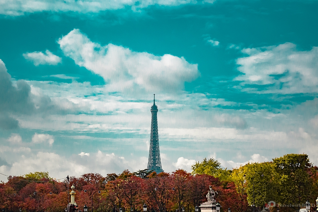 The Eiffel Tower in the distance