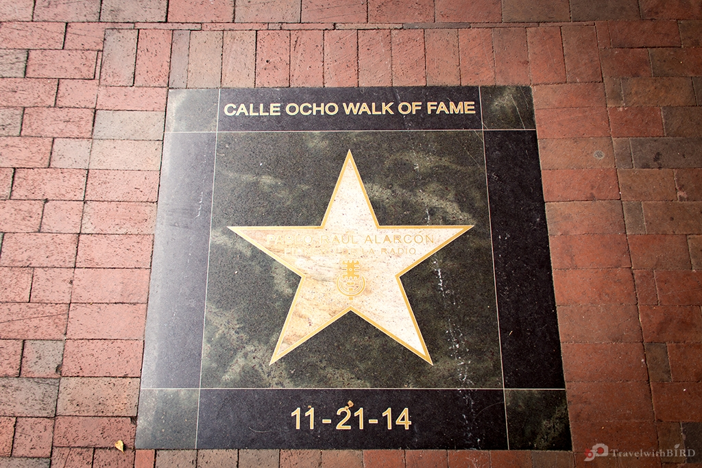 The Walk of Fame on Calle Ocho