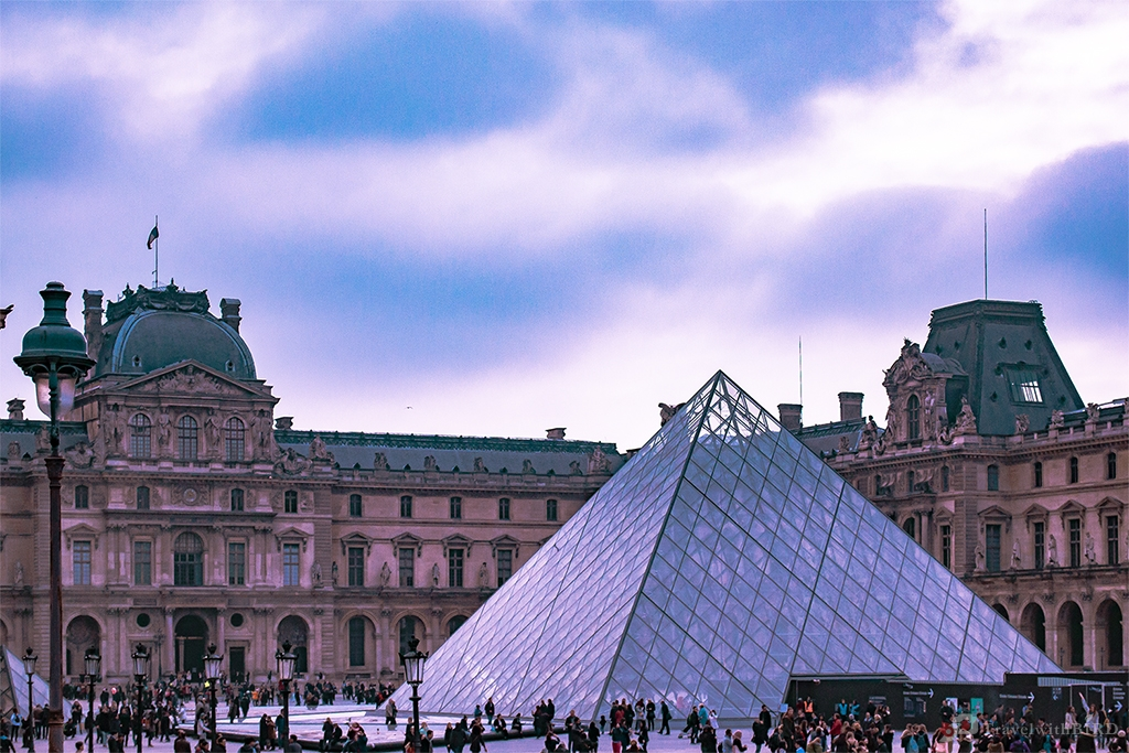 The Glass pyramid of Le Louvre