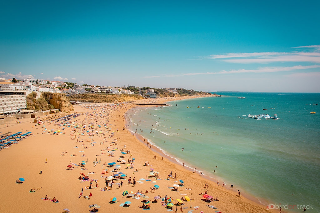 The long beach of Albufeira
