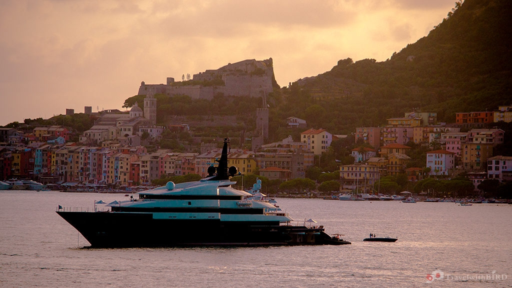 Yacht in front of Portovenere