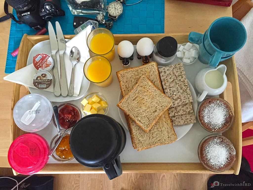 Amazing breakfast from our host Inga